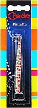 Parfémy, Parfumerie, kosmetika Pinzeta na obočí, zkosená, barevný vzor, 9 cm - Credo Solingen
