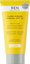 Parfémy, Parfumerie, kosmetika Matující opalovací krém - Ren Clean Screen Mattifying Face Sunscreen SPF 30