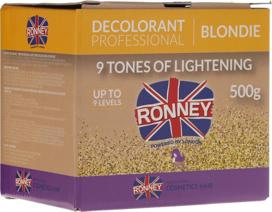 Pudr na zesvětlení vlasů - Ronney Decolorant Professional Blondie