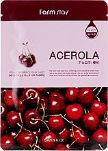 Parfémy, Parfumerie, kosmetika Plátýnková maska s přírodním acerolovým etxraktem - Farmstay Visible Difference Mask Sheet