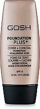 Parfémy, Parfumerie, kosmetika Make-up - Gosh Foundation Plus SPF15
