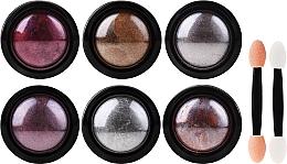 Parfémy, Parfumerie, kosmetika Sada pro nehtový design - Deni Carte (powder/6pcs + applicator/6pcs)