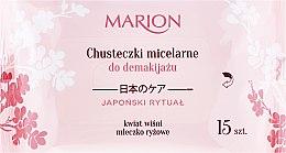 Parfémy, Parfumerie, kosmetika Ubrousky pro odstraňování make-upu z obličeje, očí a krku, 15ks - Marion Japanese Ritual Micellar Wipes Make-Up Removal