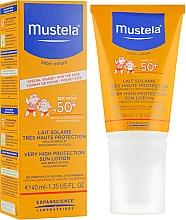 Parfémy, Parfumerie, kosmetika Krém na opalování s vysokou ochranou - Mustela Bebe Enfant Very High Protection Face Sun Lotion SPF 50+