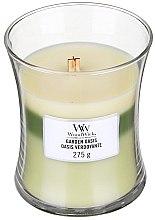 Parfémy, Parfumerie, kosmetika Vonná svíčka ve sklenici - WoodWick Hourglass Trilogy Candle Garden Oasis