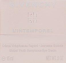 Parfémy, Parfumerie, kosmetika Krém pro pleť kolem očí - Givenchy L`Intemporel Global Youth Sumptuous Eye Cream
