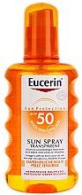 Parfémy, Parfumerie, kosmetika Ochranný tělový sprej - Eucerin Sun Spray Transparent SPF 50