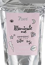 Parfémy, Parfumerie, kosmetika Třpytivý kávový peeling na tělo - 7 Days Illuminate Me Shimmering Body Scrub