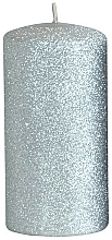 Parfémy, Parfumerie, kosmetika Dekorativní svíčka, stříbrná, 7x18 cm - Artman Glamour