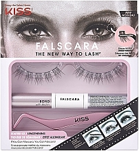 Parfémy, Parfumerie, kosmetika Sada - Kiss Falscara Eyelash Starter Kit (bond/9g + applicator + wisps)