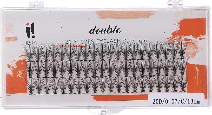 Umělé řasy, C 13 mm - Ibra 20 Flares Eyelash Knot-fre Naturals
