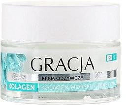 Parfémy, Parfumerie, kosmetika Výživný krém proti vráskám s mořským kolagenem a elastinem - Gracja Sea Collagen And Elastin Anti-Wrinkle Day/Night Cream