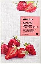 Parfémy, Parfumerie, kosmetika Plátýnková maska s výtažkem z jahod - Mizon Joyful Time Essence Mask Strawberry
