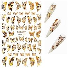 Parfémy, Parfumerie, kosmetika Samolepky na nehty 3D holografické Motýli - Deni Carte (1ks)