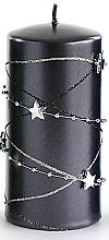 Parfémy, Parfumerie, kosmetika Dekorativní svíčka, černá, 7x10 cm - Artman Christmas Garland