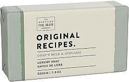 Parfémy, Parfumerie, kosmetika Mýdlo Kozí mléko a avokádo - Scottish Fine Soaps Original Recipes Goat's Milk & Avocado Luxury Soap Bar