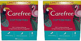 Parfémy, Parfumerie, kosmetika Hygienické slipové vložky 2X56 ks - Carefree Cotton Feel
