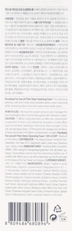 Hluboce čisticí pěna s nízkým pH - Pyunkang Yul Pore Deep Cleansing Foam — foto N3