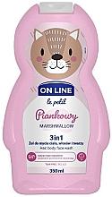 Parfémy, Parfumerie, kosmetika Přípravek na mytí vlasů, těla a obličeje Marshmallow - On Line Le Petit Marshmallow 3 In 1 Hair Body Face Wash