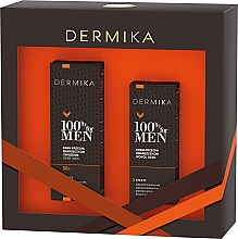 Parfémy, Parfumerie, kosmetika Sada - Dermika 100% For Men (f/cr/50ml + eye/cr/15ml)