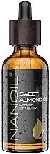 Parfémy, Parfumerie, kosmetika Mandlový olej - Nanoil Body Face and Hair Sweet Almond Oil
