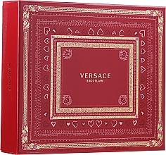 Parfémy, Parfumerie, kosmetika Versace Eros Flame - Sada (edp 100 ml + sh/gel 150 ml + edp/10ml)