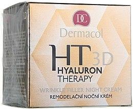 Parfémy, Parfumerie, kosmetika Noční krém na obličej s čistou kyselinou hyaluronovou - Dermacol Hyaluron Therapy 3D Wrinkle Night Filler Cream