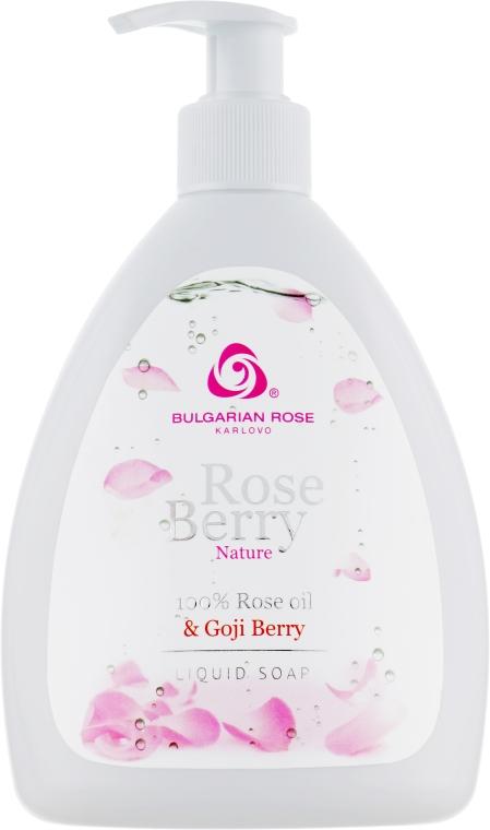 """Tekuté mýdlo """"Okvětní lístky růží"""" - Bulgarian Rose Rose Berry Nature Liquid Soap"""