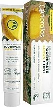Parfémy, Parfumerie, kosmetika Bělicí zubní pasta s citronem a mátou - Nordics Organic & Whitening Toothpaste Lemon + Mint