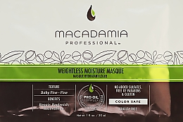 Parfémy, Parfumerie, kosmetika Hydratační maska pro jemné vlasy - Macadamia Professional Natural Oil Weightless Moisture Masque (vzorek)