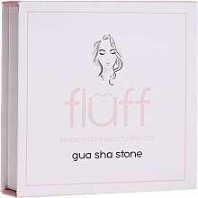 Parfémy, Parfumerie, kosmetika Masážní kámen na obličej, růžový - Fluff Gua Sha Stone