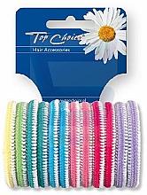 Parfémy, Parfumerie, kosmetika Gumičky do vlasů 12 ks, vícebarevné - Top Choice 22234