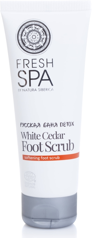 Peeling na nohy - Natura Siberica Fresh Spa Russkaja Bania Detox White Cedar Foot Scrub — foto N2