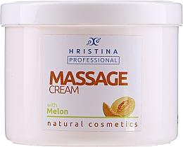 Parfémy, Parfumerie, kosmetika Masážní krém s dýňovým extraktem - Hristina Professional Massage Cream With Melon