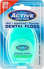 Parfémy, Parfumerie, kosmetika Mezizubní nit s mátou a fluoridem - Beauty Formulas Active Oral Care Dental Floss Mint Waxed + Fluor 100m