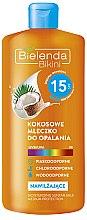 Parfémy, Parfumerie, kosmetika Kokosové mléko na opalování SPF15 - Bielenda Bikini Moisturizing Suntan Milk Medium Protection