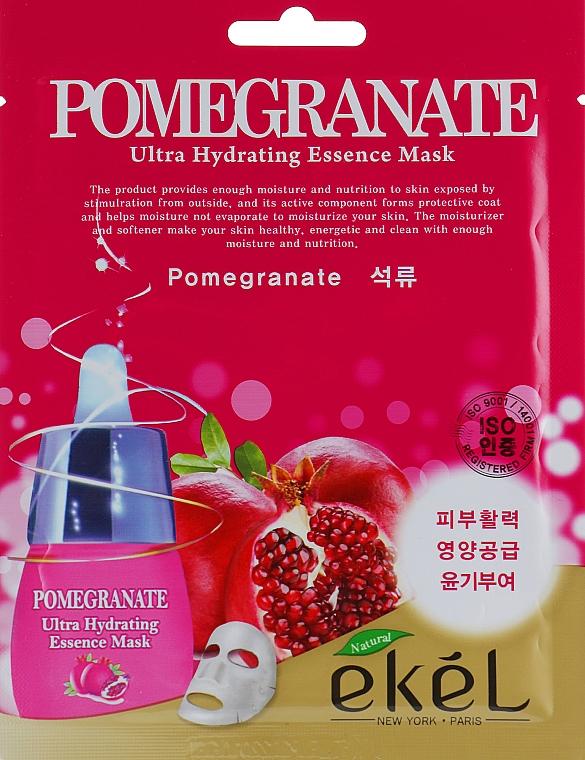 Regenerační plátýnková maska s extraktem granátového jablka - Ekel Pomegranate Ultra Hydrating Essence Mask