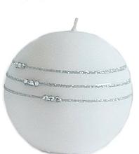 Parfémy, Parfumerie, kosmetika Dekorativní svíčka, bílá, 8 cm - Artman Candle Kolia