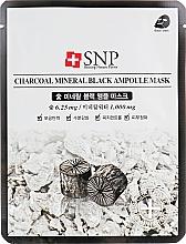 Parfémy, Parfumerie, kosmetika Čisticí pleťová maska s bambusovým uhlím - SNP Charcoal Mineral Black Ampoule Mask