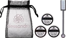 Parfémy, Parfumerie, kosmetika Sada - Alessandro International Cat Eye Set (gel/5ml + magnet + bag)