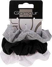 Parfémy, Parfumerie, kosmetika Gumičky do vlasů, 420, černá+šedá+bílá - Glamour