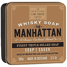 Parfémy, Parfumerie, kosmetika Mýdlo - Scottish Fine Soaps The Manhattan Soap In A Tin