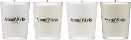 Parfémy, Parfumerie, kosmetika Sada - AromaWorks Signature Range Candle Boxed Set (candles/4x75g)