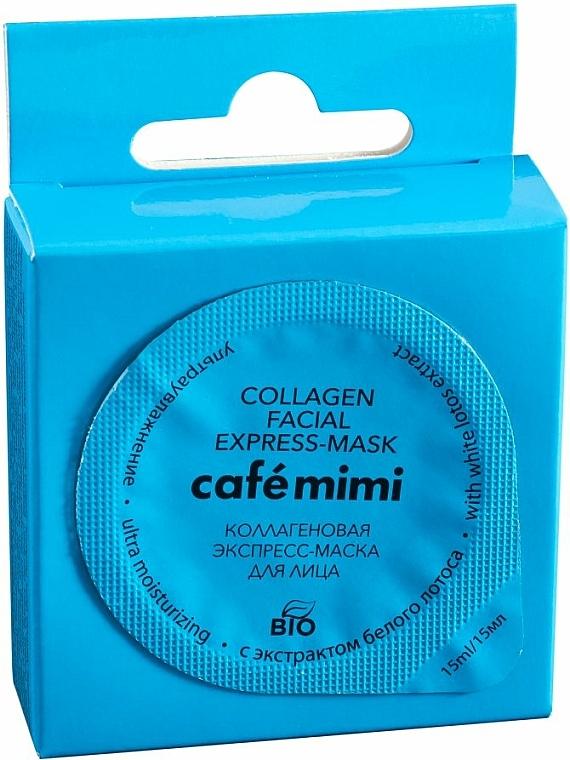 """Kolagenová express-maska na obličej """"Ultrahydratace"""" s extraktem z bílého lotosu - Cafe Mimi Collagen Facial Express-Mask — foto N1"""