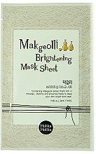 Parfémy, Parfumerie, kosmetika Plátýnková maska s extraktem z rýžového vína - Holika Holika Makgeolli Brightening Mask Sheet