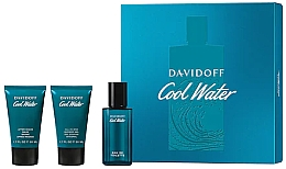 Parfémy, Parfumerie, kosmetika Davidoff Cool Water - Sada (edt/40 ml + sh/gel/50 ml + ash/balm/50 ml)