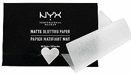 "Parfémy, Parfumerie, kosmetika Ubrousky na obličej ""Matte Blotting"" - NYX Professional Makeup Blotting Paper"