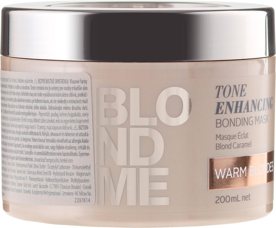 Maska-bonding pro teplé odstíny blond - Schwarzkopf Professional Blondme Tone Enhancing Bonding Mask Warm Blondes