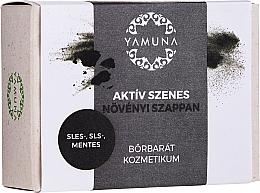 Parfémy, Parfumerie, kosmetika Mýdlo Aktivní uhlí - Yamuna Activated Carbon Vegetable Soap