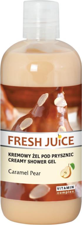 Krémový sprchový gel Karamelová hruška - Fresh Juice Caramel Pear Creamy Shower Gel